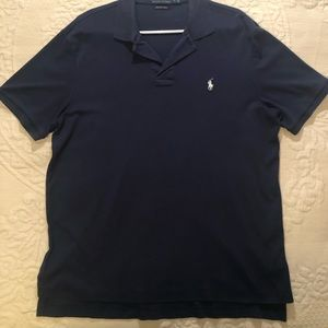 Polo by Ralph Lauren Men's Size Large Navy Blue Short Sleeve Polo Shirt
